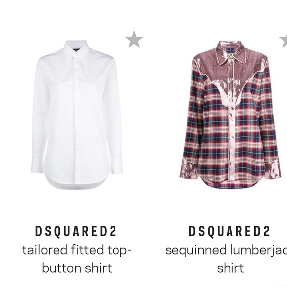 5c472a96 DSQUARED Tops | 2 Womens Fitted White Button Up Shirt | Poshmark